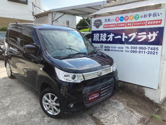 沖縄の中古車 スズキ ワゴンRスティングレー 車両価格 35万円 リ済込 2012(平成24)年 12.1万km ブラック