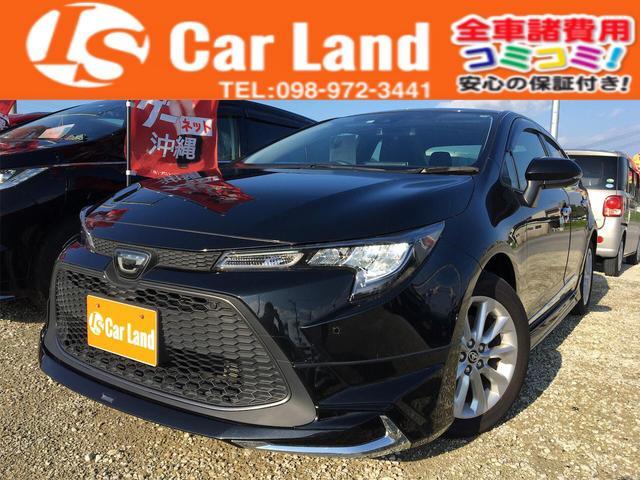 沖縄の中古車 トヨタ カローラ 車両価格 209万円 リ済込 2020(令和2)年 0.5万km ブラックM