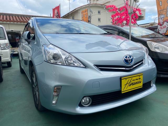 沖縄の中古車 トヨタ プリウスアルファ 車両価格 88万円 リ済込 2012(平成24)年 8.1万km 紺II