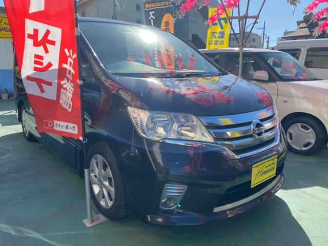 沖縄の中古車 日産 セレナ 車両価格 110万円 リ済込 2013(平成25)年 9.3万km パープルM