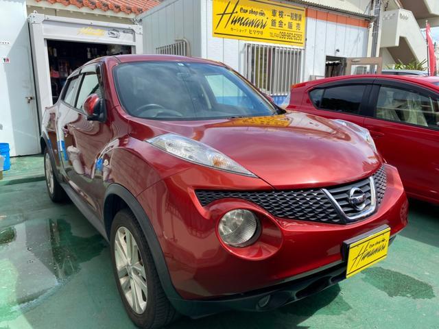 沖縄の中古車 日産 ジューク 車両価格 65万円 リ済込 2011(平成23)年 8.8万km レッドM