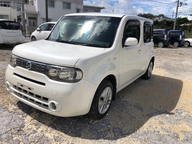 沖縄県の中古車ならキューブ 15X Vセレクション ニッサンキューブ パールホワイト・内地中古車