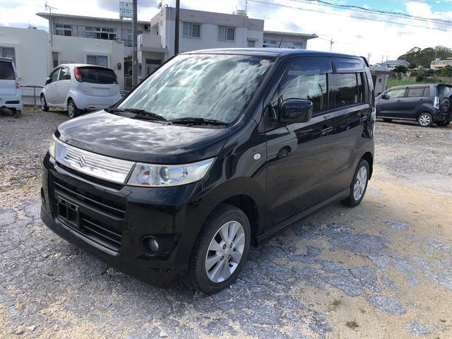沖縄の中古車 スズキ ワゴンRスティングレー 車両価格 34万円 リ済込 2008(平成20)年 12.9万km ブラックM