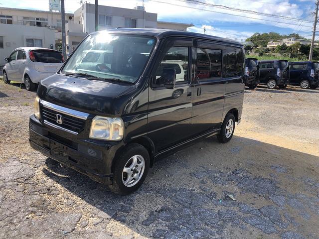 沖縄の中古車 ホンダ バモス 車両価格 32万円 リ済込 2009(平成21)後 15.4万km ブラックM