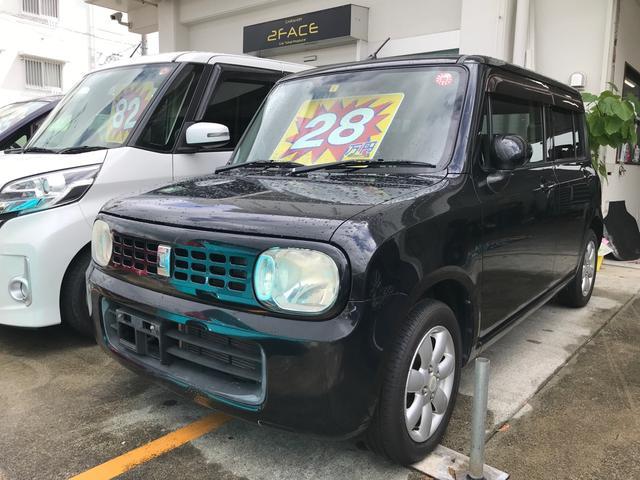 沖縄の中古車 スズキ アルトラパン 車両価格 26万円 リ済込 2009(平成21)年 13.1万km ブルーイッシュブラックパール3