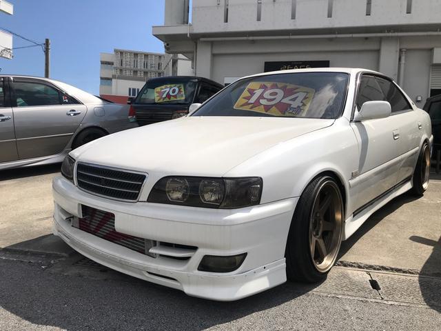 沖縄の中古車 トヨタ チェイサー 車両価格 189万円 リ済込 1999(平成11)年 走不明 パールホワイト