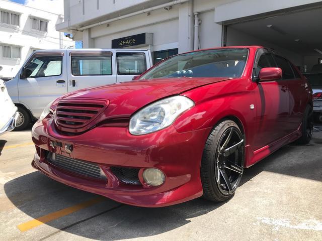 沖縄県の中古車ならヴェロッサ VR25 BRIZ前置きインタークーラー 車高調 社外アルミ 社外マフラー フルエアロ 社外ハンドル Defi3連メーター 公認5速