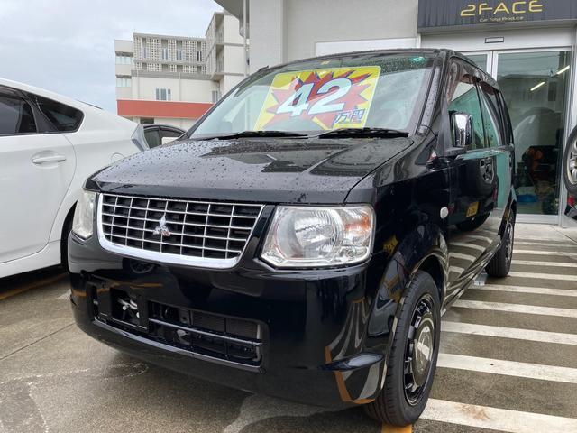 沖縄の中古車 三菱 eKワゴン 車両価格 39万円 リ済込 2013(平成25)年 8.4万km ブラックマイカ