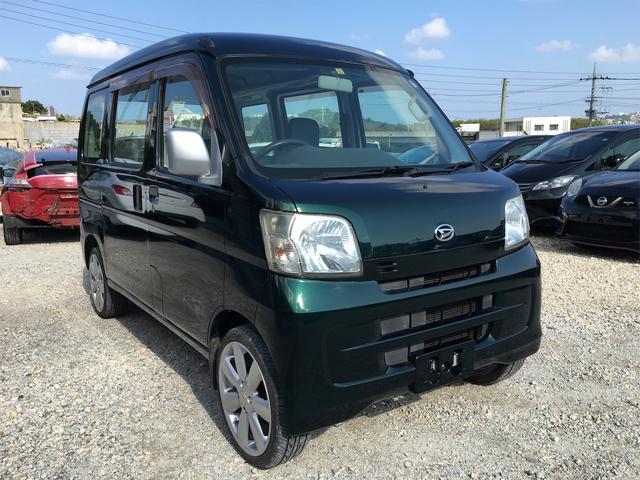 沖縄の中古車 ダイハツ ハイゼットカーゴ 車両価格 43万円 リ済込 2010(平成22)年 11.2万km グリーンM