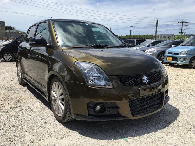 沖縄県の中古車ならスイフト スポーツ 2年保証 5MT スマートキー ダウンサス 純正16インチアルミ オリジナルオールペイント