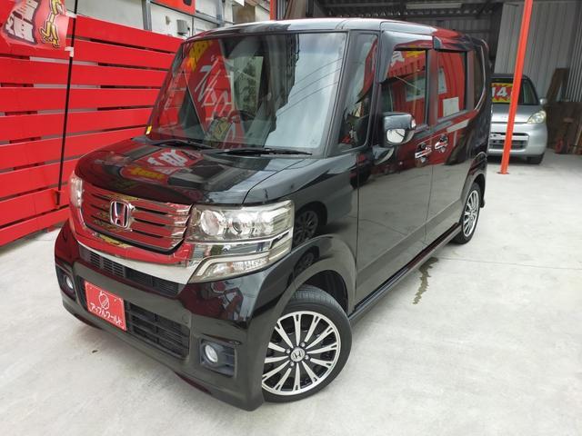沖縄の中古車 ホンダ N-BOXカスタム 車両価格 97万円 リ済別 2014(平成26)年 6.9万km スマートブラック