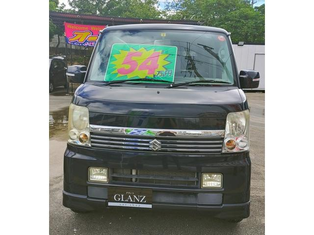 沖縄の中古車 スズキ エブリイワゴン 車両価格 54万円 リ済込 2010(平成22)年 6.0万km ブラック