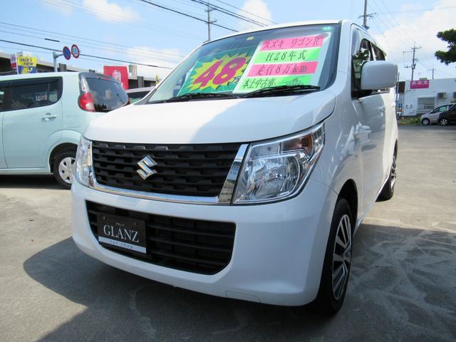 沖縄の中古車 スズキ ワゴンR 車両価格 48万円 リ済込 2016(平成28)年 8.0万km ホワイト