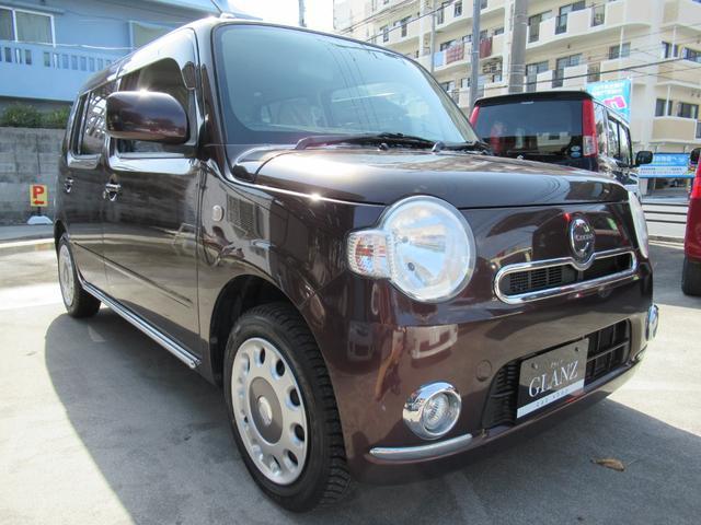 沖縄の中古車 ダイハツ ミラココア 車両価格 39万円 リ済込 2012(平成24)年 12.0万km ブラウン