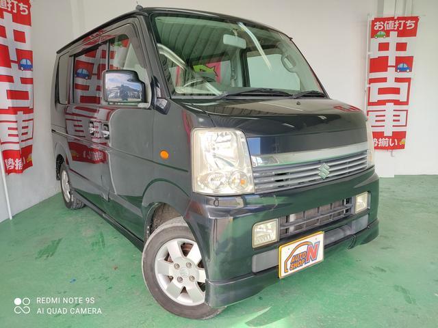 沖縄の中古車 スズキ エブリイワゴン 車両価格 18万円 リ済込 2006(平成18)年 15.2万km ブラック