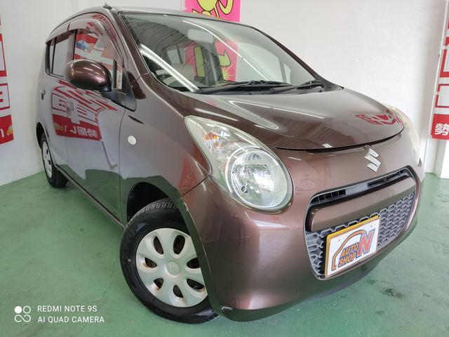 沖縄の中古車 スズキ アルト 車両価格 20万円 リ済込 2010(平成22)年 4.2万km ブラウンM