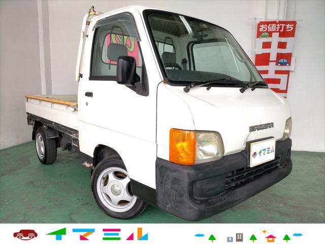 沖縄県うるま市の中古車ならサンバートラック TB タイミングベルト交換歴シール有り エアコン付き マニュアル5速 3方開