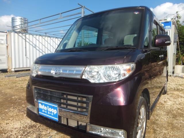 沖縄県の中古車ならタント カスタムXリミテッド 左パワースライドドドア テレビ付きナビ 本土車