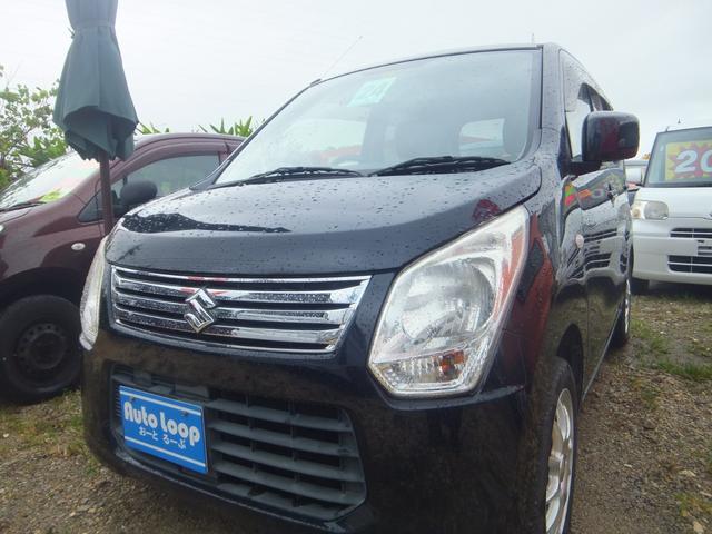 沖縄の中古車 スズキ ワゴンR 車両価格 33万円 リ済込 2012(平成24)年 8.0万km ブラックM