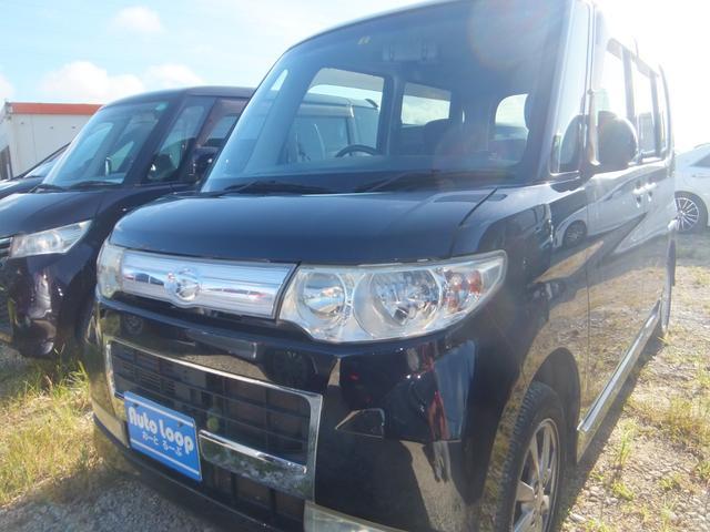 沖縄県の中古車ならタント カスタムXリミテッド 左パワースライドドア 本土車 テレビナビ ブルートゥース