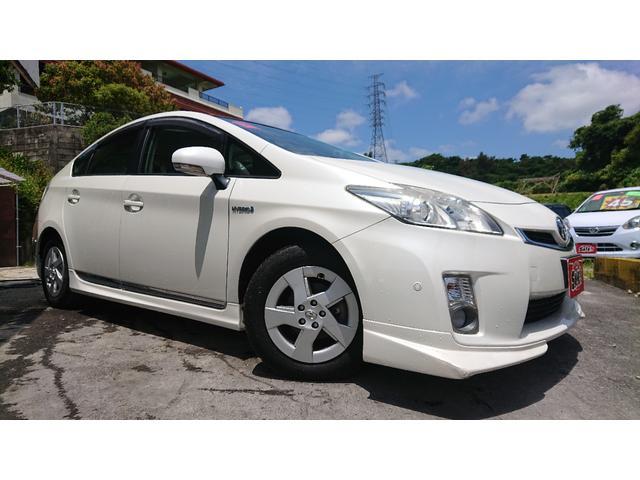 沖縄の中古車 トヨタ プリウス 車両価格 72万円 リ済込 2009(平成21)年 7.6万km パール