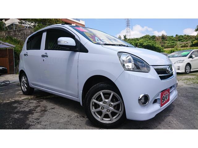 沖縄の中古車 ダイハツ ミライース 車両価格 39万円 リ済込 2012(平成24)年 6.2万km ライトブルー