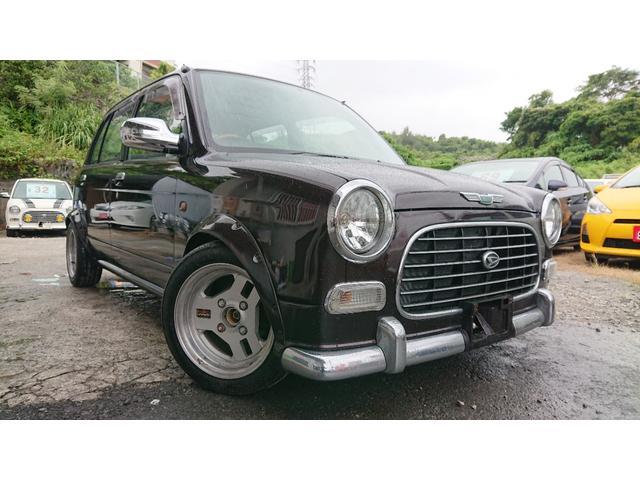沖縄県の中古車ならミラジーノ ジーノ 内地仕入車両 TEIN車高調 オーバーフェンダー ETC タイミングベルト交換済み
