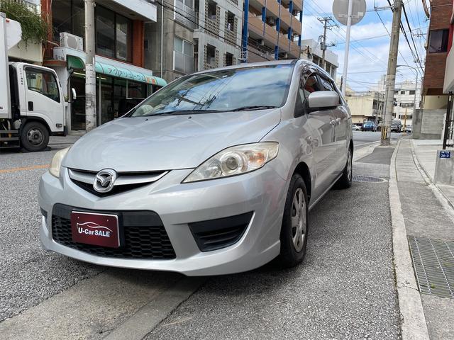 沖縄の中古車 マツダ プレマシー 車両価格 30万円 リ済込 2008(平成20)年 5.0万km ライトグレー