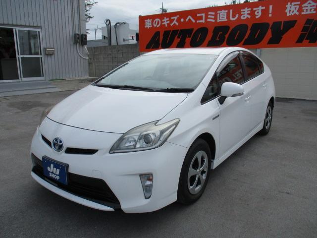 沖縄の中古車 トヨタ プリウス 車両価格 63万円 リ済込 2013(平成25)年 7.9万km ホワイト