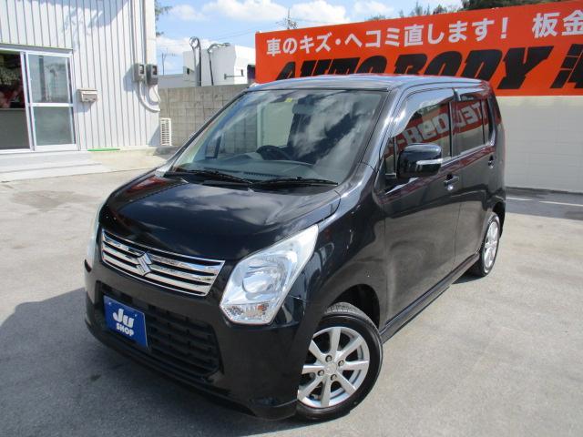 沖縄の中古車 スズキ ワゴンR 車両価格 56万円 リ済込 2013(平成25)年 7.4万km ブラック