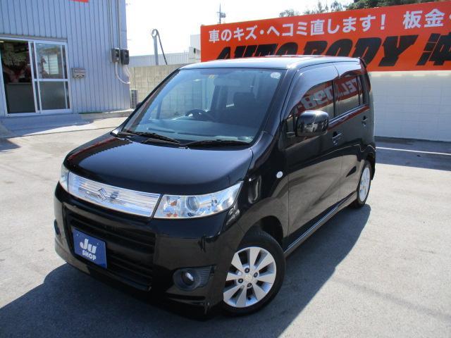 沖縄の中古車 スズキ ワゴンRスティングレー 車両価格 37万円 リ済込 2010(平成22)年 9.2万km ブラック