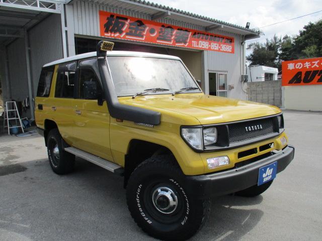 沖縄県の中古車ならランドクルーザープラド EXターボ ターボ・サンルーフ・ナビ・TV・ETC付き・7人乗り