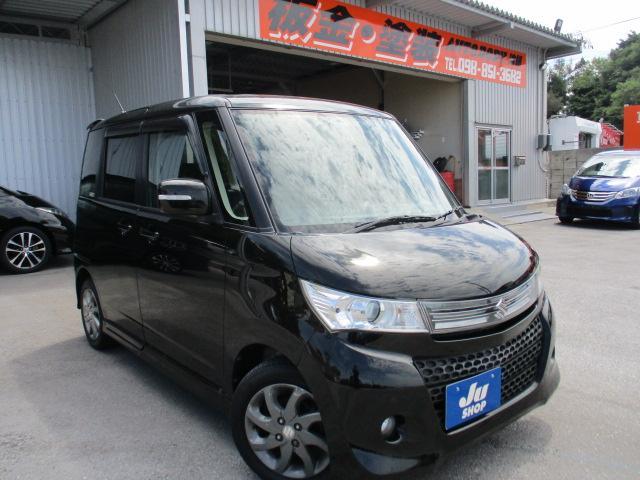 沖縄の中古車 スズキ パレットSW 車両価格 48万円 リ済込 2012(平成24)年 7.0万km ブラック