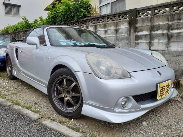 沖縄県の中古車ならMR-S Sエディション 後期 6MT 純正エアロ 社外アルミ BRIDEフルバケ