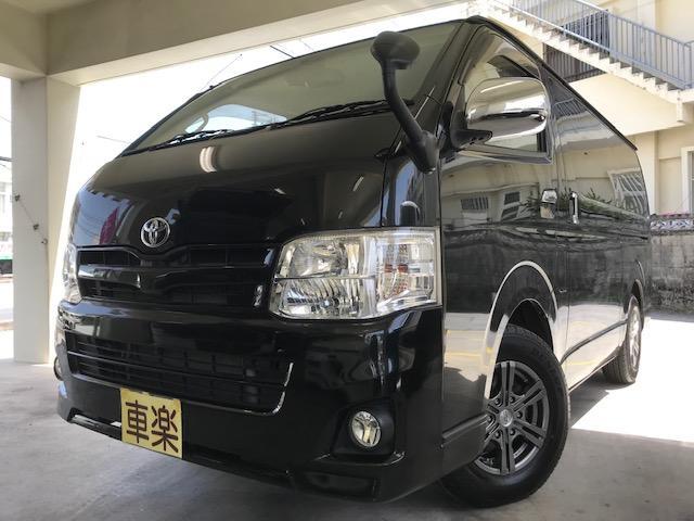 沖縄の中古車 トヨタ ハイエースバン 車両価格 200万円 リ済込 2013(平成25)年 16.3万km ブラック