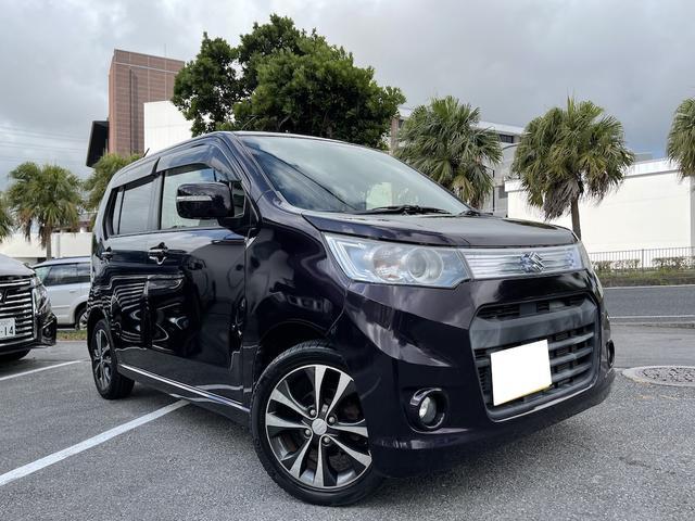 沖縄県の中古車ならワゴンRスティングレー T ナビ TV DVD Bluetooth パドルシフト アイドリングストップ車 2年保証付き