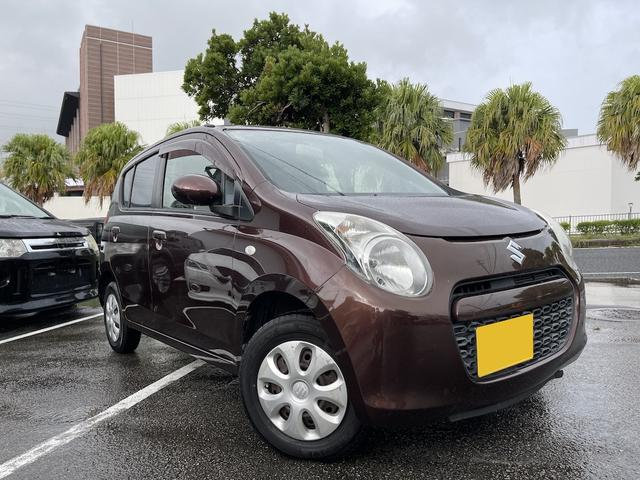 沖縄の中古車 スズキ アルト 車両価格 24万円 リ済込 2011(平成23)年 6.5万km ブラウン
