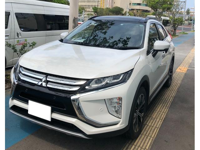 沖縄の中古車 三菱 エクリプスクロス 車両価格 189万円 リ済別 2018(平成30)年 3.2万km パールホワイト