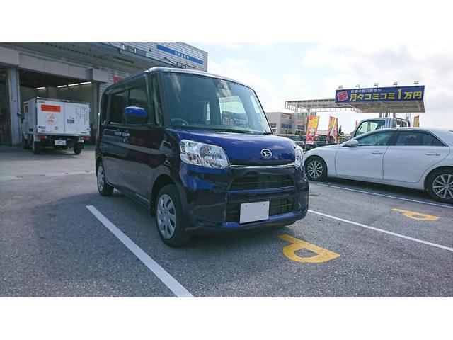 沖縄の中古車 ダイハツ タント 車両価格 89.8万円 リ済別 2018(平成30)年 1.4万km ブルーM