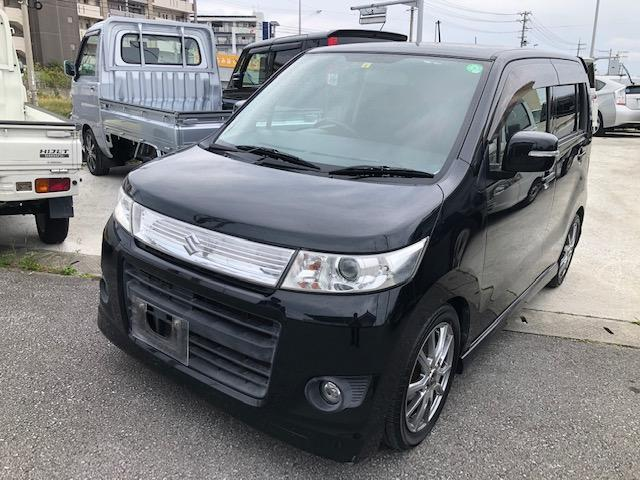 沖縄県の中古車ならワゴンRスティングレー T ターボ Bluetooth スマートキー オートエアコン パワステ パワーウィンド HID 社外アルミホイール