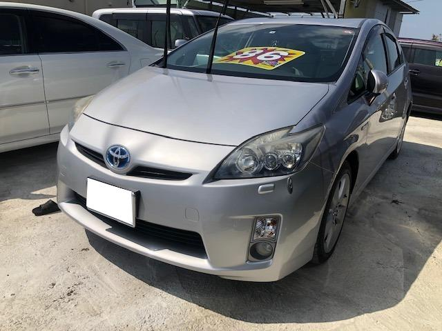 沖縄の中古車 トヨタ プリウス 車両価格 80万円 リ済込 2010(平成22)年 3.5万km シルバーM