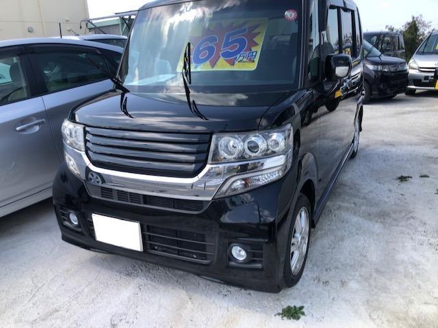 沖縄の中古車 ホンダ N-BOXカスタム 車両価格 60万円 リ済込 2012(平成24)年 10.4万km ブラックM