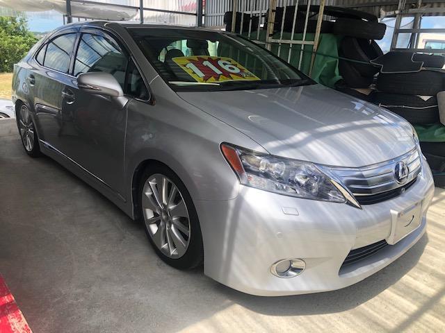 沖縄の中古車 レクサス HS 車両価格 80万円 リ済込 2010(平成22)年 10.8万km シルバーM