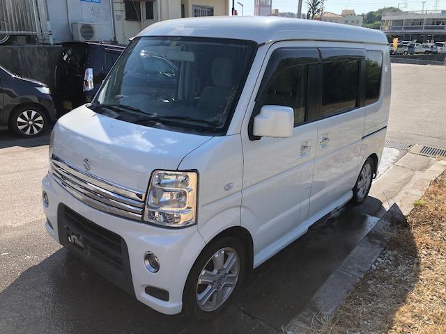 沖縄の中古車 スズキ エブリイワゴン 車両価格 65万円 リ済込 2012(平成24)年 14.2万km パールホワイト