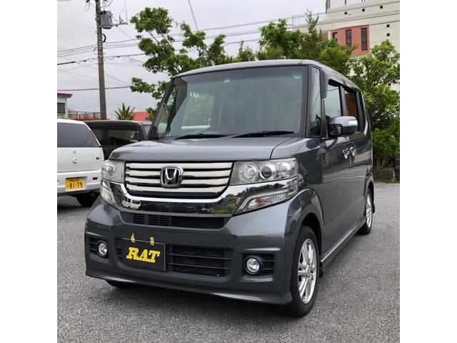 沖縄の中古車 ホンダ N-BOXカスタム 車両価格 55万円 リ済込 2012(平成24)年 12.0万km シルバー