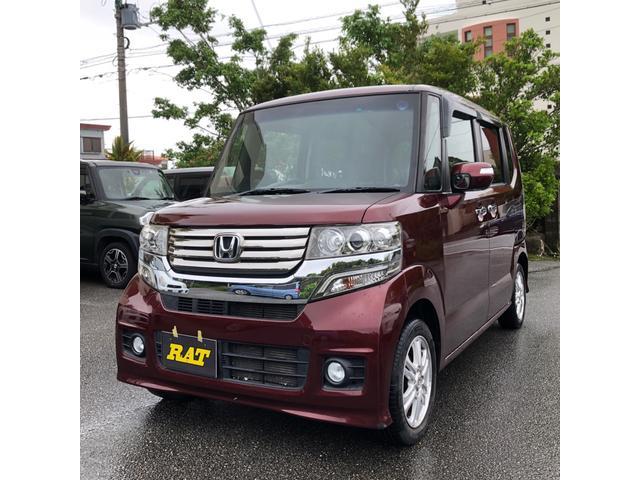 沖縄の中古車 ホンダ N-BOXカスタム 車両価格 61万円 リ済込 2012(平成24)年 8.6万km レッド