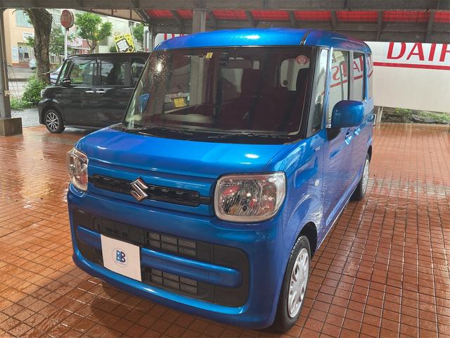 沖縄の中古車 スズキ スペーシア 車両価格 116万円 リ済込 2018(平成30)年 1.2万km ブルー