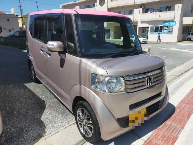 沖縄の中古車 ホンダ N-BOX 車両価格 57万円 リ済込 2013(平成25)年 9.7万km ピンク