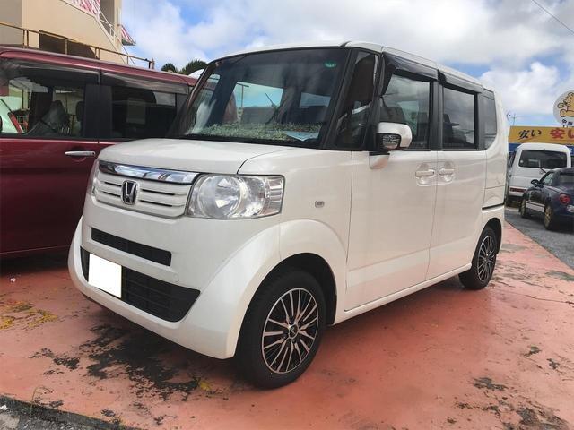 沖縄の中古車 ホンダ N-BOX 車両価格 58万円 リ済込 2013(平成25)年 12.4万km ホワイト
