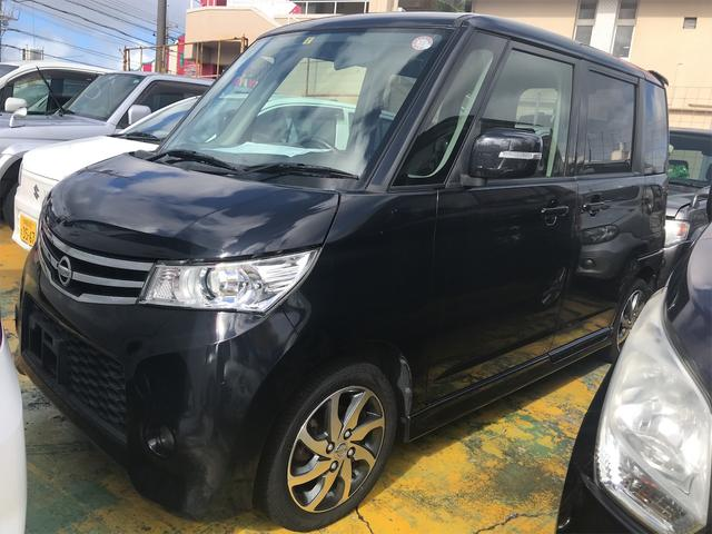 沖縄の中古車 日産 ルークス 車両価格 53万円 リ済込 2012(平成24)年 10.7万km ブラック